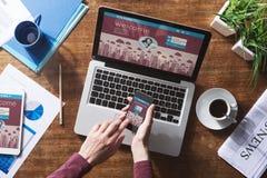 Inicio de sesión de usuarios social de la red Fotografía de archivo libre de regalías