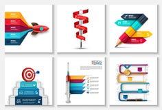 Inicio, medicina y educación infographic Fotos de archivo