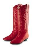 inicjuje cowgirl odizolowywającą czerwień Obrazy Stock