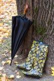 inicjuje gumowego parasol Zdjęcie Royalty Free