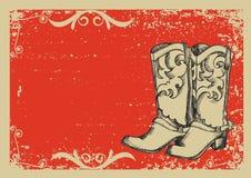 inicjuje kowboja royalty ilustracja