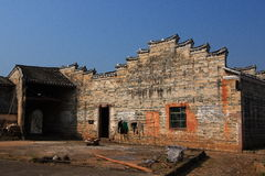 Inide of Hakka round house Royalty Free Stock Photos