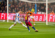 Iniesta (FC Barcelona) Royalty Free Stock Photography