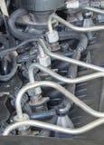 Iniettori di combustibile del motore diesel dell'automobile fotografie stock libere da diritti