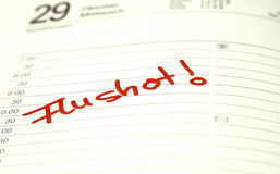 Iniezione antinfluenzale Fotografia Stock