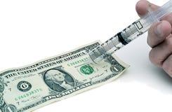 Iniezione del dollaro Immagine Stock Libera da Diritti