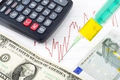 Iniezione economica Immagine Stock