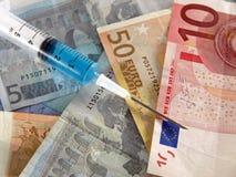 Iniezione finanziaria Fotografia Stock Libera da Diritti