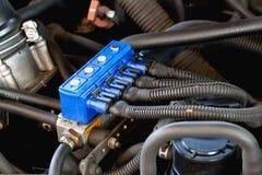 Iniezione sequenziale del gas dell'automobile Fotografie Stock