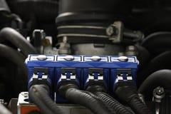 Iniezione sequenziale del gas dell'automobile Fotografia Stock Libera da Diritti