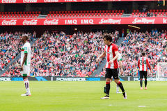 Inigo Lekue. Of the Athletic Club Bilbao in the match between Athletic Bilbao and Granada, celebrated on April 3, 2016 in Bilbao, Spain Royalty Free Stock Photography