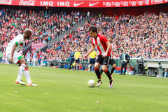 Inigo Lekue of the Athletic Club Bilbao. In the match between Athletic Bilbao and Granada, celebrated on April 3, 2016 in Bilbao, Spain Royalty Free Stock Image