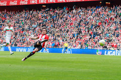Inigo Lekue of the Athletic Club Bilbao. Scores the goal in the match between Athletic Bilbao and Granada, celebrated on April 3, 2016 in Bilbao, Spain Stock Images