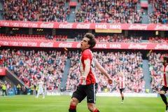 Inigo Lekue. BILBAO, SPAIN - ARPIL 3: Inigo Lekue of the Athletic Club Bilbao celebrates the goal in the match between Athletic Bilbao and Granada, celebrated on Stock Images