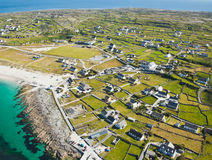 Inisheer island. Aerial landscape of Inisheer Island, part of Aran Islands, Ireland Royalty Free Stock Photography