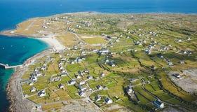 Inisheer island. Aerial landscape of Inisheer Island, part of Aran Islands, Ireland Stock Photography