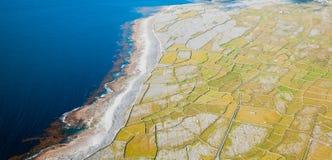 Inisheer island. Aerial landscape of Inisheer Island, part of Aran Islands, Ireland Royalty Free Stock Image