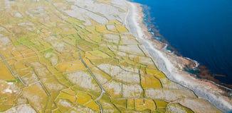 Inisheer island. Aerial landscape of Inisheer Island, part of Aran Islands, Ireland Royalty Free Stock Photography