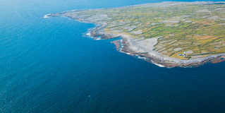 Inisheer island. Aerial landscape of Inisheer Island, part of Aran Islands, Ireland Stock Image