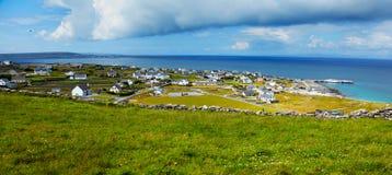 Inisheer island. Panoramic landscape of Inisheer Island, part of Aran Islands, Ireland Royalty Free Stock Photography