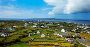 Inisheer island. Panoramic landscape of Inisheer Island, part of Aran Islands, Ireland Royalty Free Stock Images