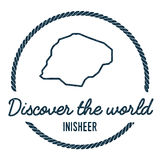 Inisheer Map Outline. Vintage Discover the World. Royalty Free Stock Images