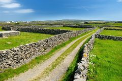 Inishmore ή Inis Mor, ο μεγαλύτερος των νησιών Aran Galway στον κόλπο, Ιρλανδία Στοκ φωτογραφία με δικαίωμα ελεύθερης χρήσης
