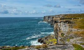 Scenic cliffs of Inishmore, Aran Islands, Ireland. Inishmore, Aran Islands, Galway Bay, Ireland Stock Image