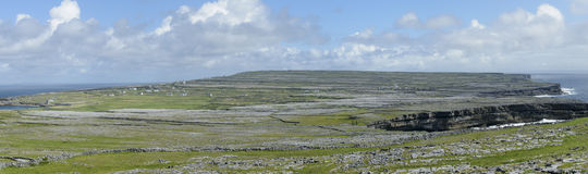 Inishmore panorama, Aran wyspy, Irlandia, Europa Zdjęcie Stock