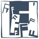 Initial bokstav F Arkivfoton