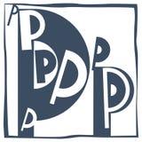 Initial bokstav P royaltyfri bild