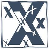 Initial bokstav X Arkivfoton