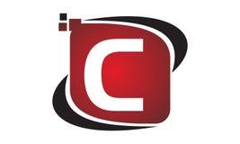 Initial C för teknologirörelsesynergi Arkivfoto