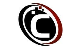 Initial C för teknologirörelsesynergi Arkivbild