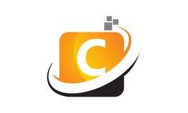 Initial C för teknologirörelsesynergi Fotografering för Bildbyråer