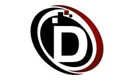 Initial D för teknologirörelsesynergi Royaltyfri Fotografi