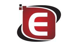 Initial E för teknologirörelsesynergi Royaltyfri Fotografi