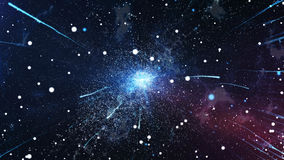 The initial explosion of the universe the Big Bang Royalty Free Stock Images