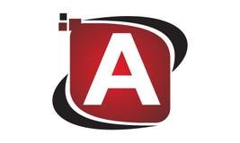 Initial A för teknologirörelsesynergi Arkivfoto