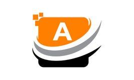 Initial A för teknologirörelsesynergi Arkivfoton