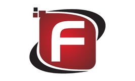 Initial F för teknologirörelsesynergi Royaltyfri Fotografi