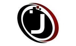 Initial J för teknologirörelsesynergi Royaltyfri Foto