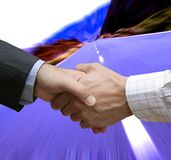 Initial lefthanded deal. On the road stock photos