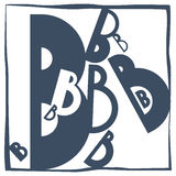 Initial letter B Stock Images