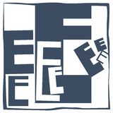 Initial letter E Royalty Free Stock Photography
