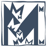 Initial letter M Royalty Free Stock Image