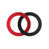 Initial Letter OO Rounded ico logo with Clean Color Connected Royalty Free Stock Image