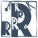 Initial letter R Stock Image