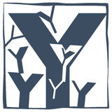 Initial letter Y Royalty Free Stock Photography