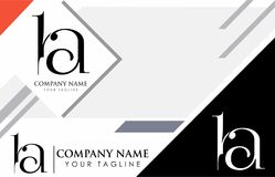 Initial logo design ba. Vector Royalty Free Stock Photography